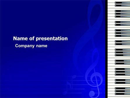 wwwpptstar powerpoint template piano-keyboard-on-blue - trivia powerpoint template