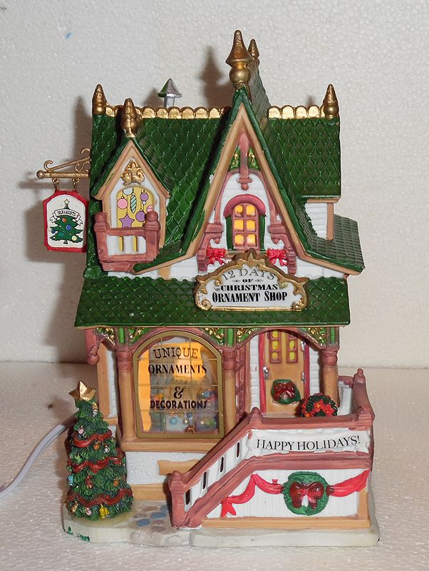 Lemax 12 Days of Christmas Ornament Shop - Lemax 12 Days Of Christmas Ornament Shop Lemax Christmas Village