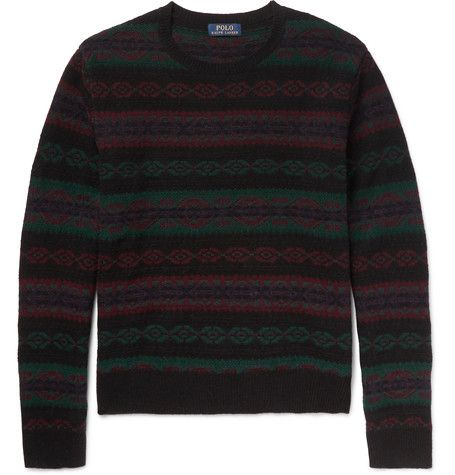 POLO RALPH LAUREN Slim-Fit Fair Isle Wool and Cashmere-Blend ...