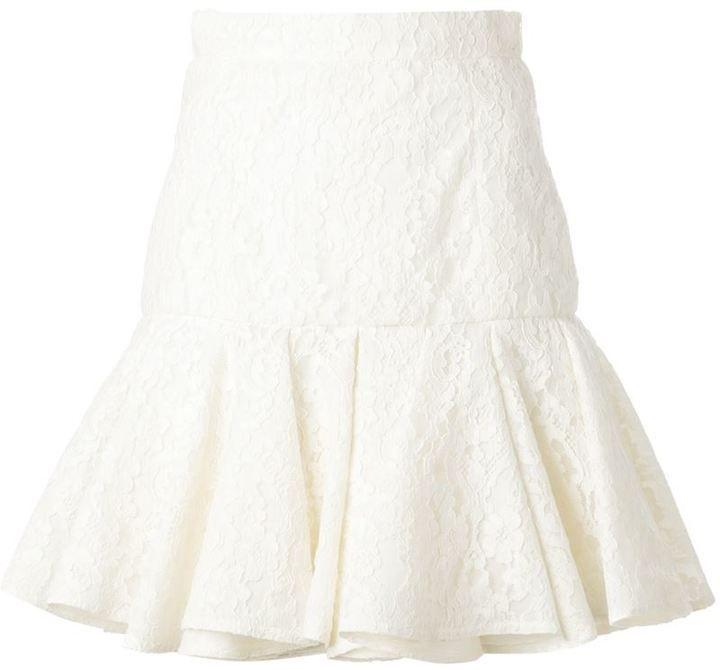 Balmain lace skirt on shopstyle.co.uk