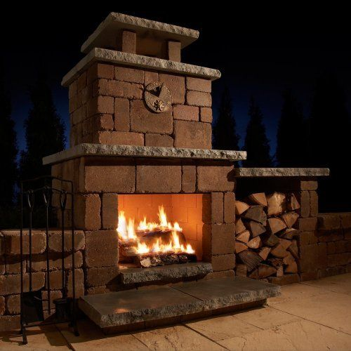 Necessories Compact Outdoor Fireplace By Rochester