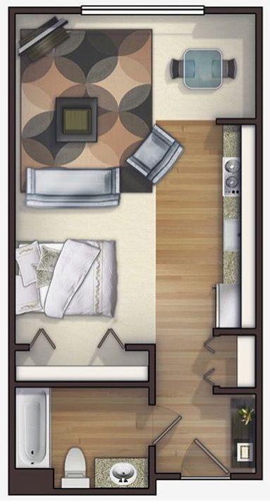 Studio Apartment Interior Design Impressive Inspiration