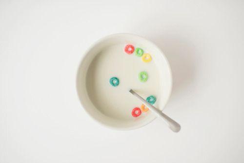 Fruit Loops milk. FromCereal magazine Volume 1 Photo bySamantha Goh