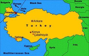 Carte De Turquie Situant çatal Höyük çatalhöyük 7500 7000 Avant