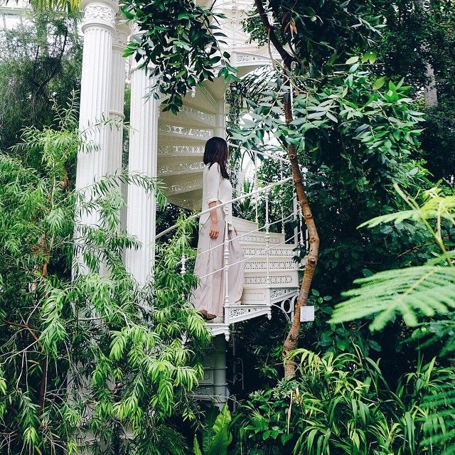 Niki Csanyi I Bud Nyc La On Instagram Dreamy Staircase At The Prettiest Greenhouse Austria Traveleronholiday Instagram Garden Arch Outdoor Structures