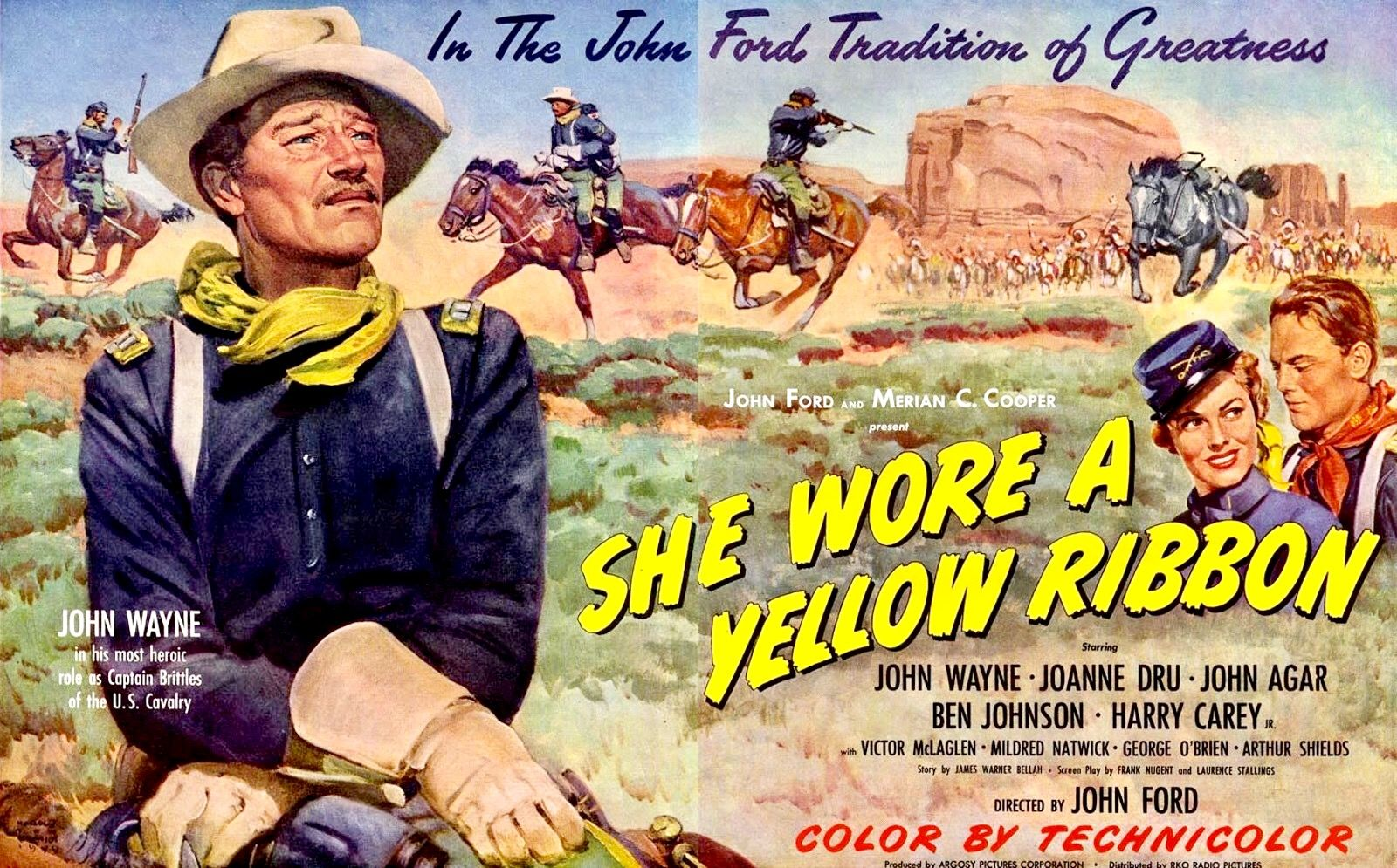 She Wore A Yellow Ribbon (1949) Directed by John Ford | John wayne ...