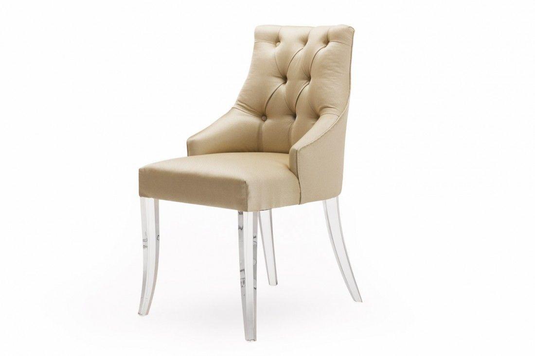 Dining Chairs Back Alton Chair Acrylic Legs Plaza Encantada