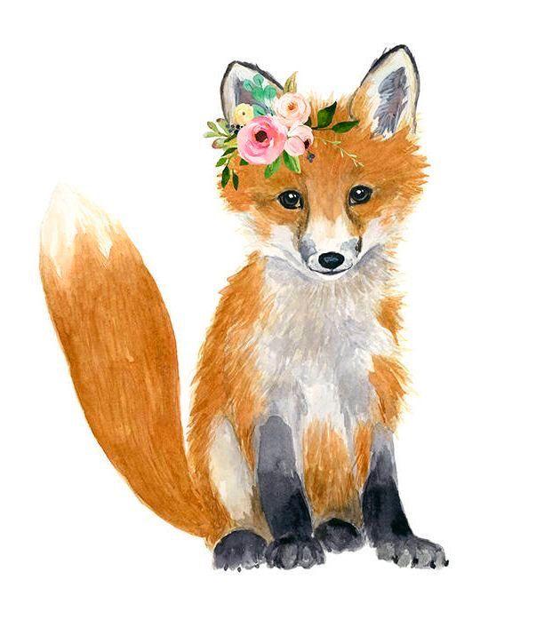 Fuchs Malerei Tierzeichnung Tiere Malen