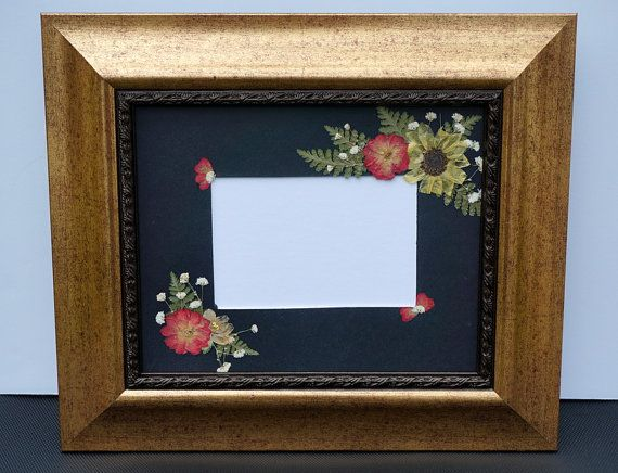 Gold Metallic Pressed Roses Picture Frame 8 X 10 W 5 X 7 Opening Pressed Flowers Frame Pressed Roses Rose Pictures