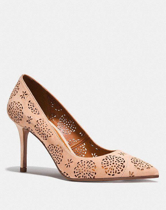 Coach 1941 Pointed-Toe Suede Pumps discount nicekicks sale manchester great sale k2RYn1w
