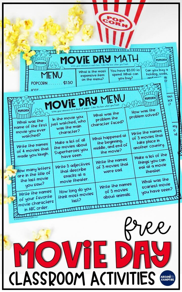 Classroom Movie Day Ideas Your Principal Will Love | Classroom ...