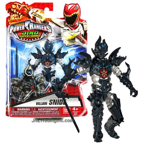 Bandai Year 2015 Saban's Power Rangers Dino Super Charge Series 5 Inch Tall Action Figure - Villain SNIDE with Black Sword
