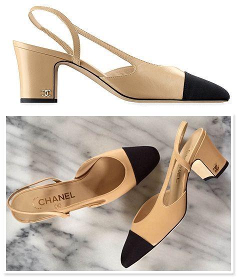 Chanel Two-Tone Slingback Pumps