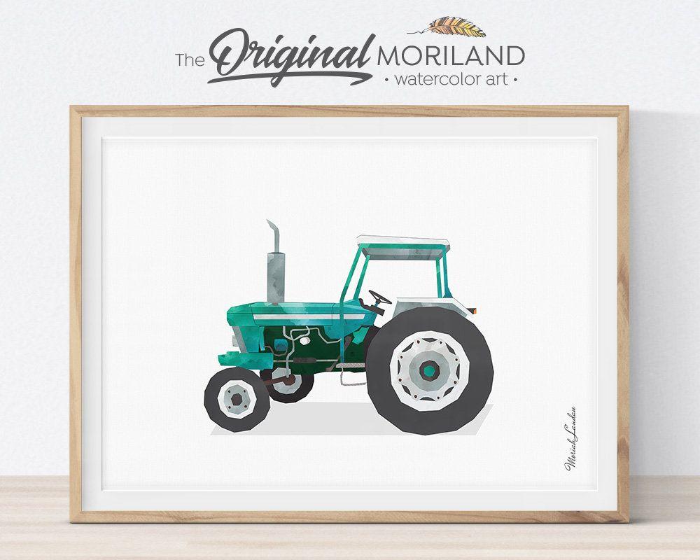 Tractor Wall Art Tractor Nursery Vintage Tractor Transportation