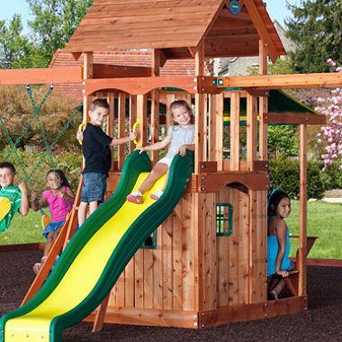 Backyard Discovery Saratoga Cedar Swing Play Set Cedar Swing Sets