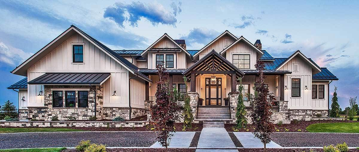 Plan 95028rw Rockin Mountain Home With Climbing And Exercise Rooms In 2020 Craftsman House Plans Luxury House Plans House Plans With Photos