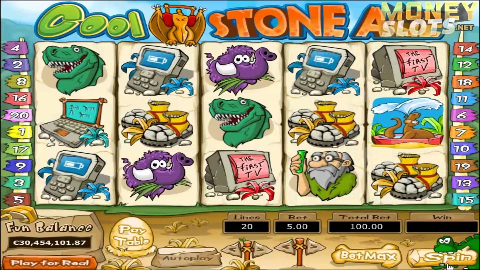 The stonemobile is the bonus symbol in Cool Stone Age.When three or more of these cave-style racing machines come to a halt on the reels, the Caveman Cruiser bonus feature will be launched.This game will be played on another screen and you will be steering the slinky stonemobile/5(2).