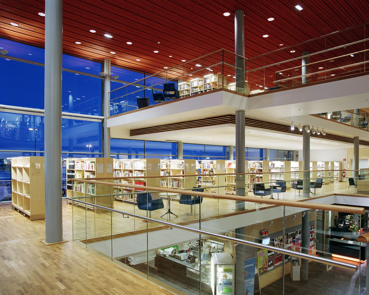 Kulturens hus,stadsbiblioteket, Luleå. Library in Luleå, Sweden. Isn't it gorgeous?