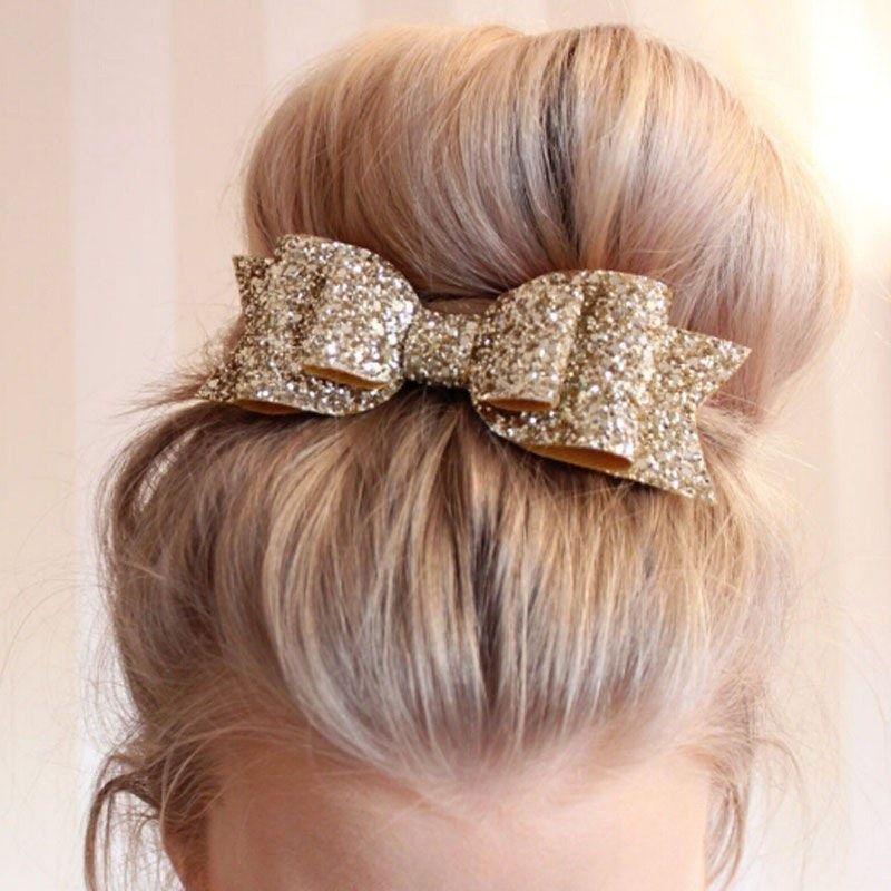 Big Cloth Bows Hair Clips Gilrs Sweet Bowknot Solid Hairpin Headwear Ornaments