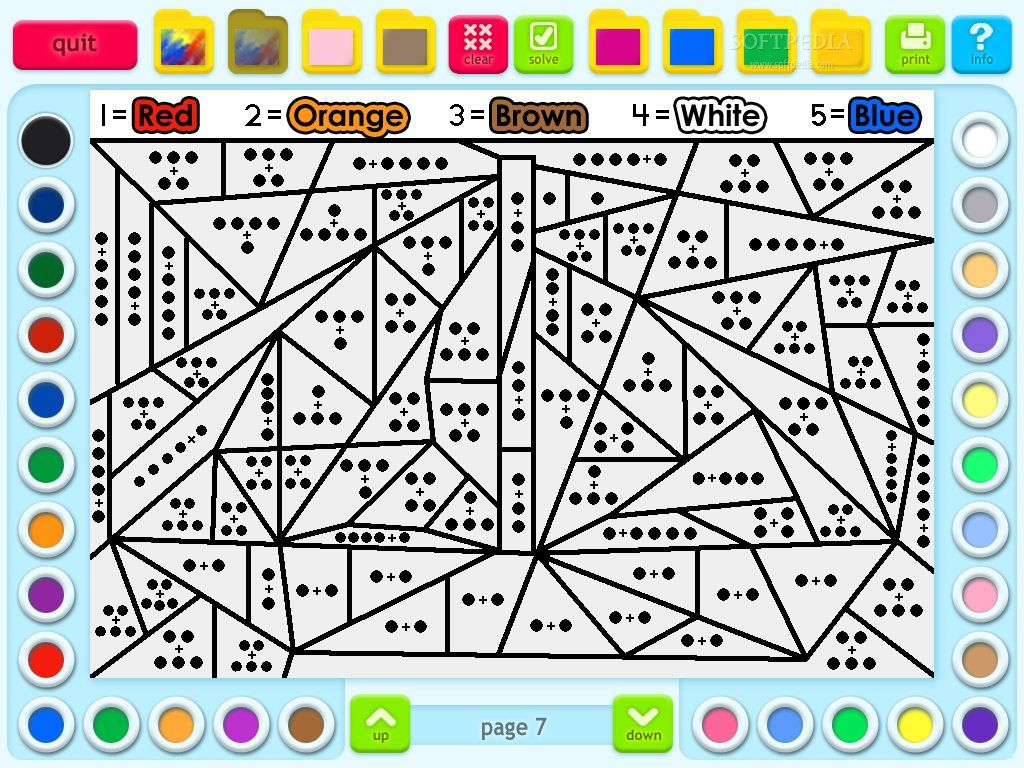 6th grade coloring worksheets screenshot 2 of math coloring book