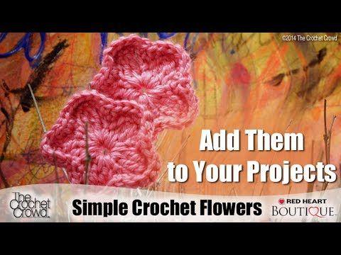 Crochet Simple Flowers Tutorial Youtube Crochet Tutorials