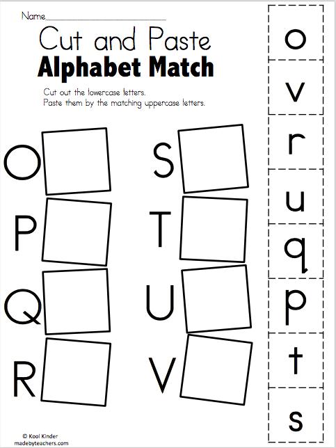 Alphabet Match O to V