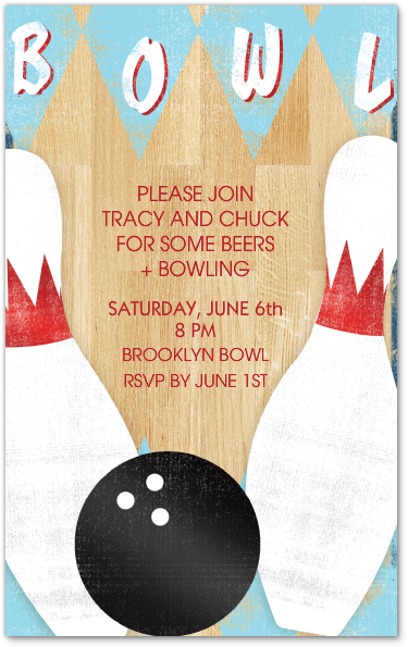 Design Your Invitation Bowling Party Invitations Free Birthday