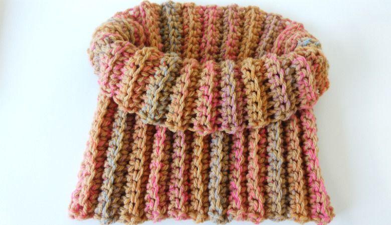 zapatos deportivos c5ce7 8d21f Cuello crochet fácil tipo polar | Crochet primavera verano ...