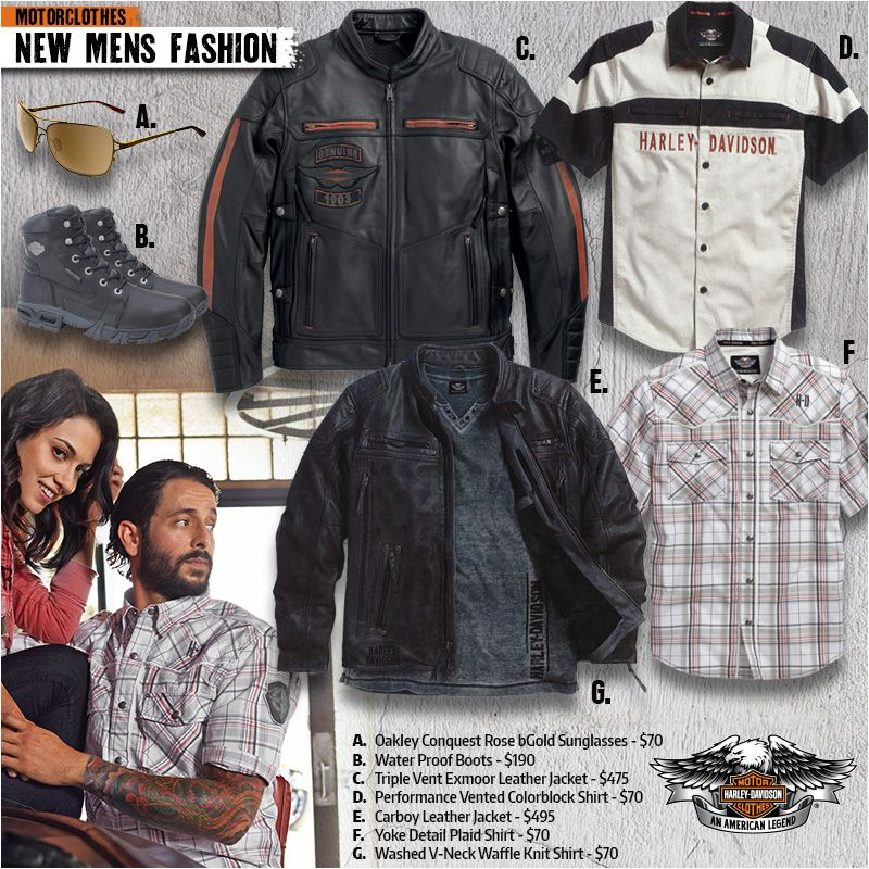 Alefs Harley Davidson S Motorclothes Clothing Department Carries A Huge Selection Of H D Apparel Gifts Souve With Images New Mens Fashion Mens Fashion Harley Davidson