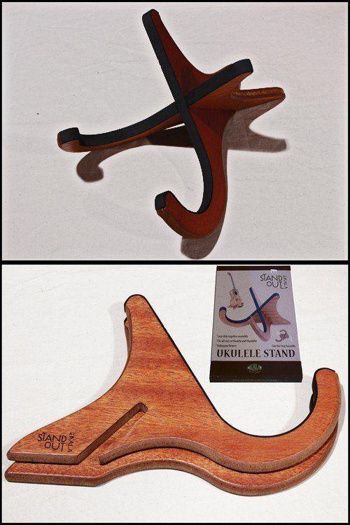 standout wooden ukulele stand woodworking projects in 2019 ukulele stand wooden guitar. Black Bedroom Furniture Sets. Home Design Ideas