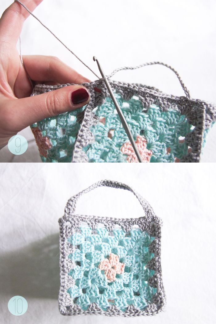 DIY Mini granny square crochet baskets {Guest post by Victoria from ...