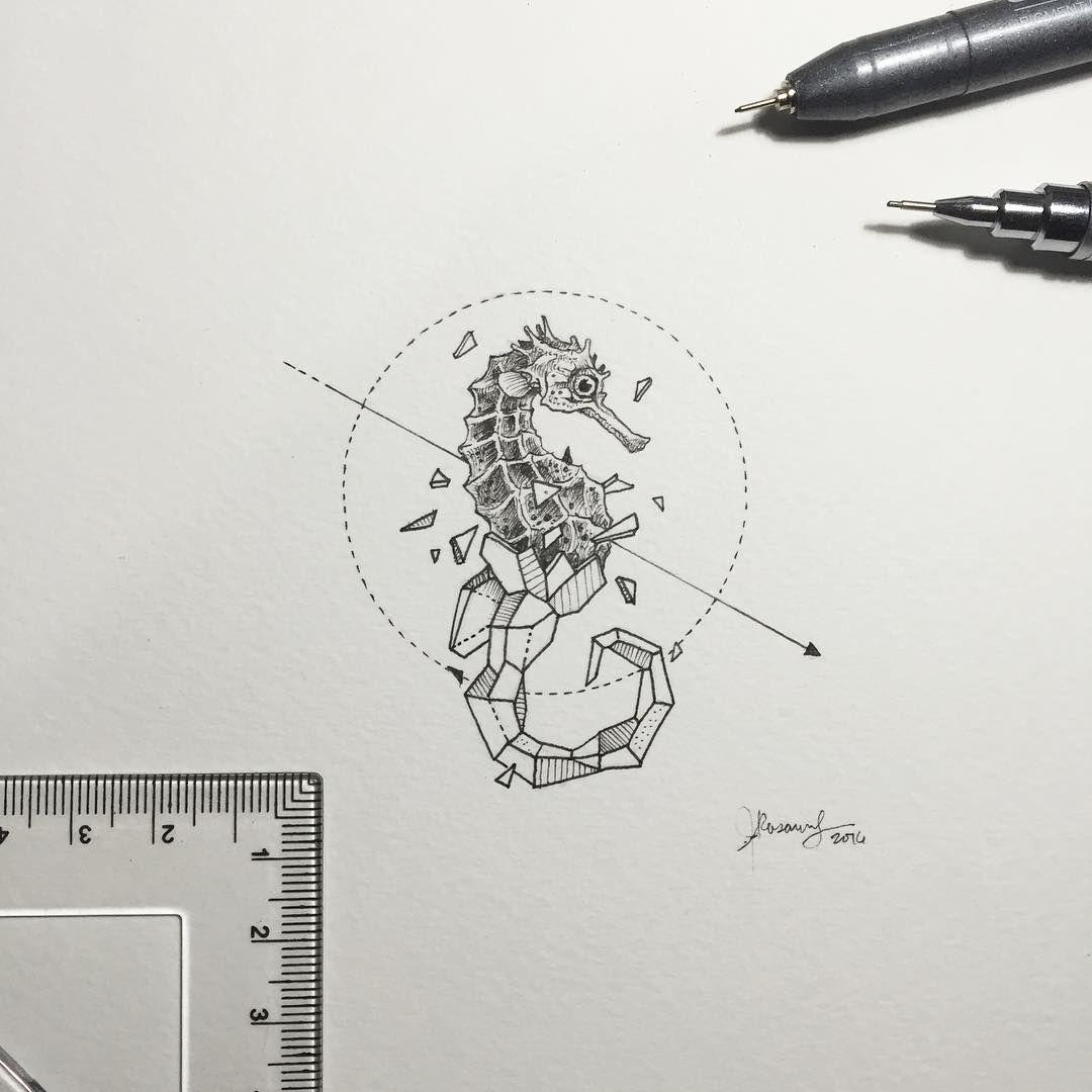 Geometric Beasts Tattoo Pinterest Dessin Animaux Geometrique