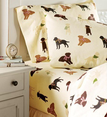 Flannel Labrador Lovers Sheets Are
