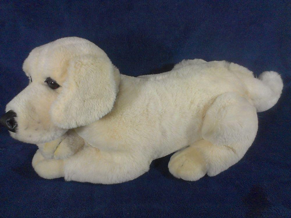 Fao Schwarz Golden Retriever Plush Dog Stuffed Animal Yellow