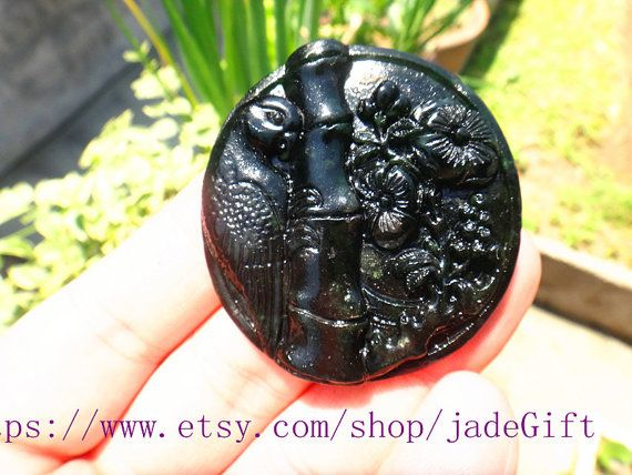 Free shipping  Hand carved  luck jade night owl by jadeGift, $15.99
