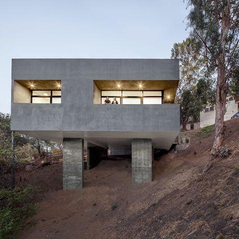 Modern homes built on slopes google search