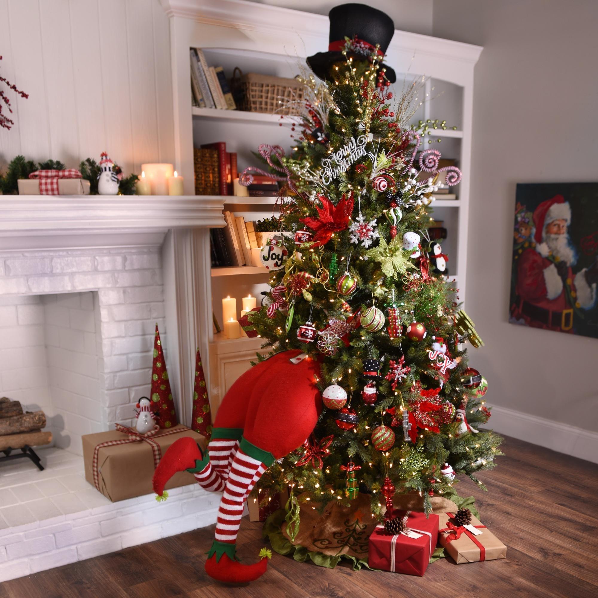 Red Striped Elf Bottom   Kirklands christmas, Christmas ...