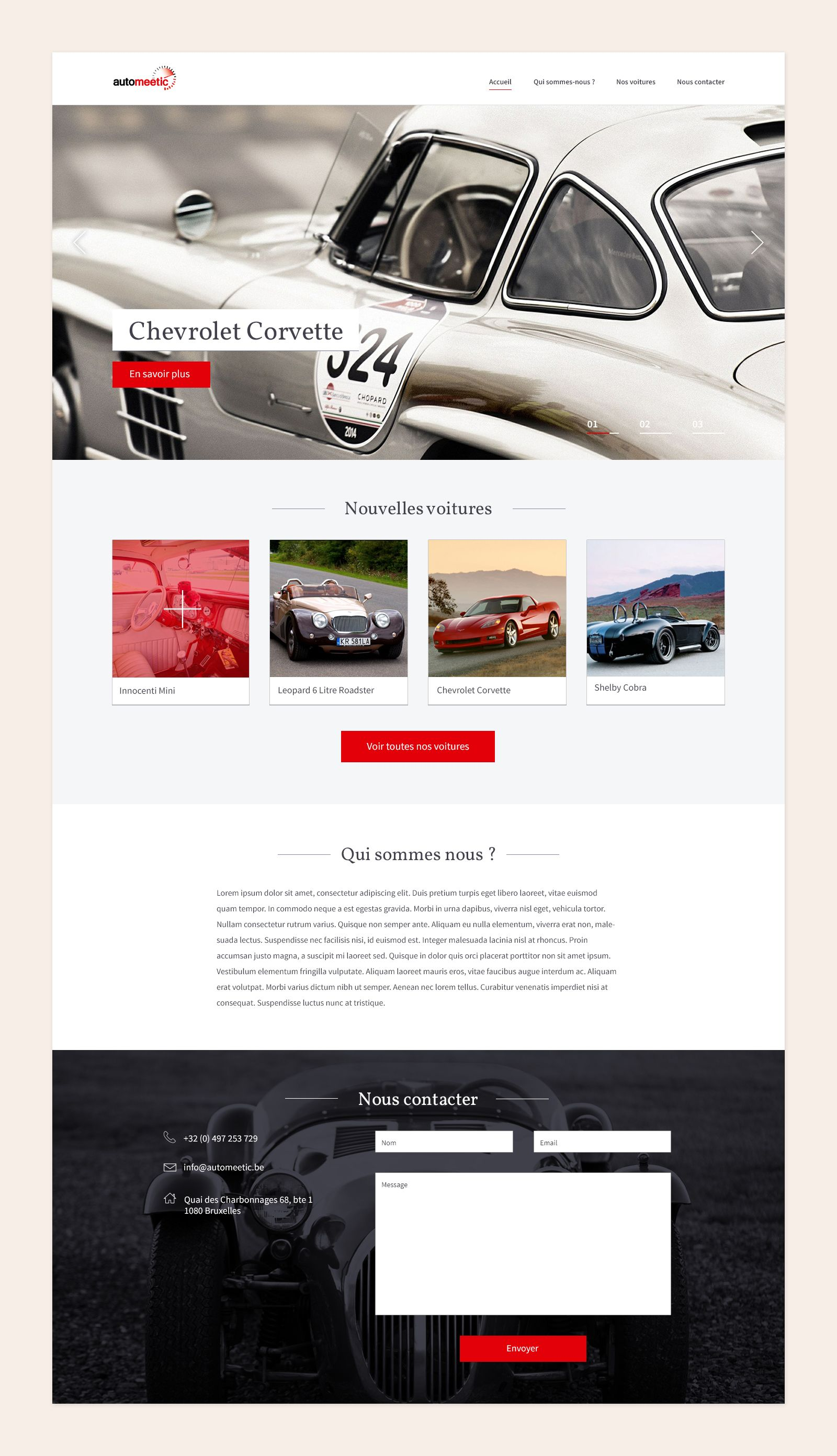 Simple Web Design For Automeetic A Luxury Car Dealer Simple Web Design Web Design Car Dealer