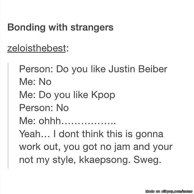 Bonding with strangers...| allkpop Meme Center