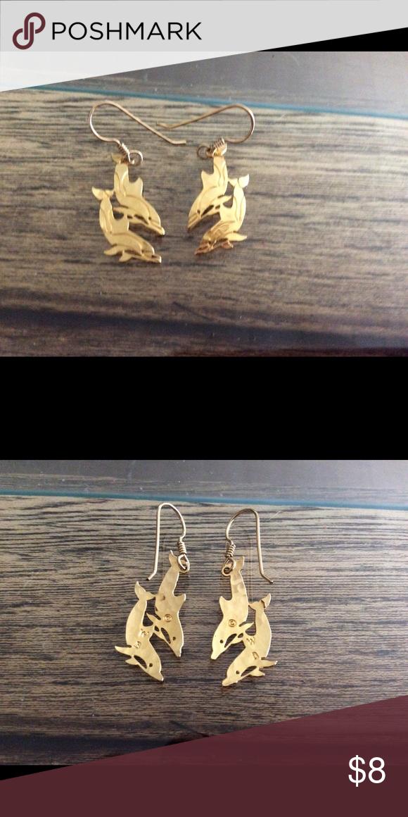 Wild Bryde Earrings : bryde, earrings, Bryde, Dolphin, Plated, Earrings, Earrings,