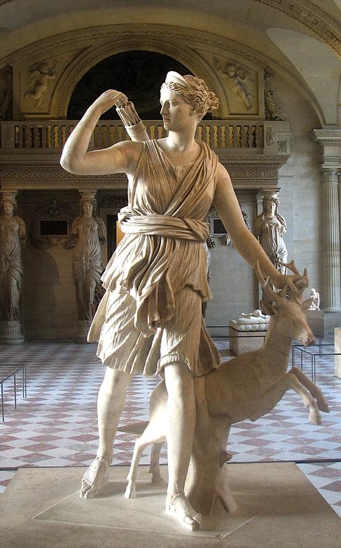Roman Diana of Versailles, 2nd century AD.   Arte na antiguidade ...