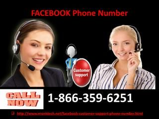 Get Round The Clock Help Through Facebook Phone Number 1 866 359
