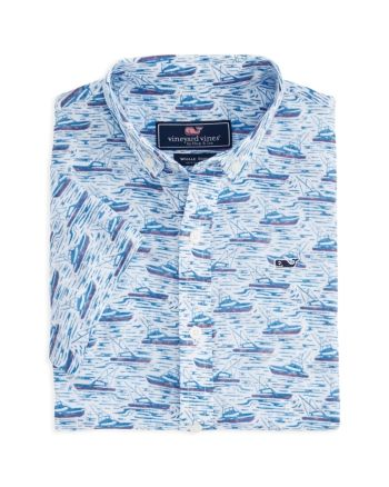 Vineyard Vines Boys' Sportfisher Short Sleeve Dress Shirt - Little Kid, Big Kid - White #shortsleevedressshirts