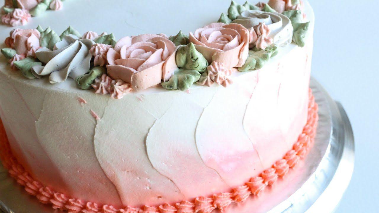 Whipped Cream Rose Cake Tutorial Whipped Cream Cakes Rose Cake