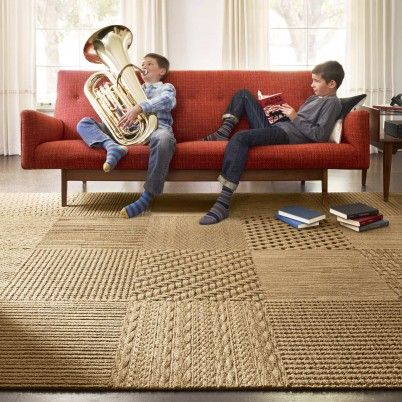 Sweater Weather Carpet Tiles Made Of Nylon Yarn That Is Created To Portray  A Natural Sisal