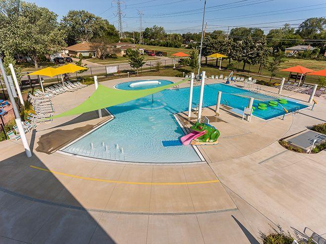 Williams Architects - Morton Grove, IL - Oriole Park Pool - Zero Depth Entry #mortongrove Williams Architects - Morton Grove, IL - Oriole Park Pool - Zero Depth Entry #mortongrove