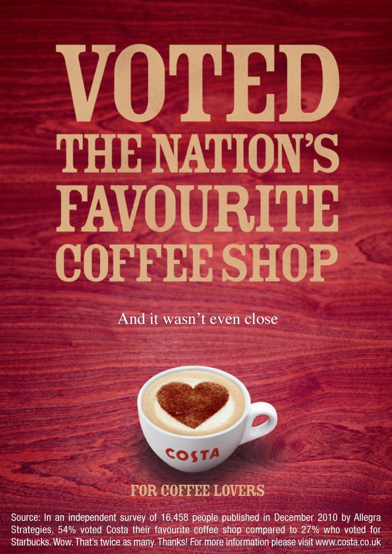 Costa coffee advertising google search design