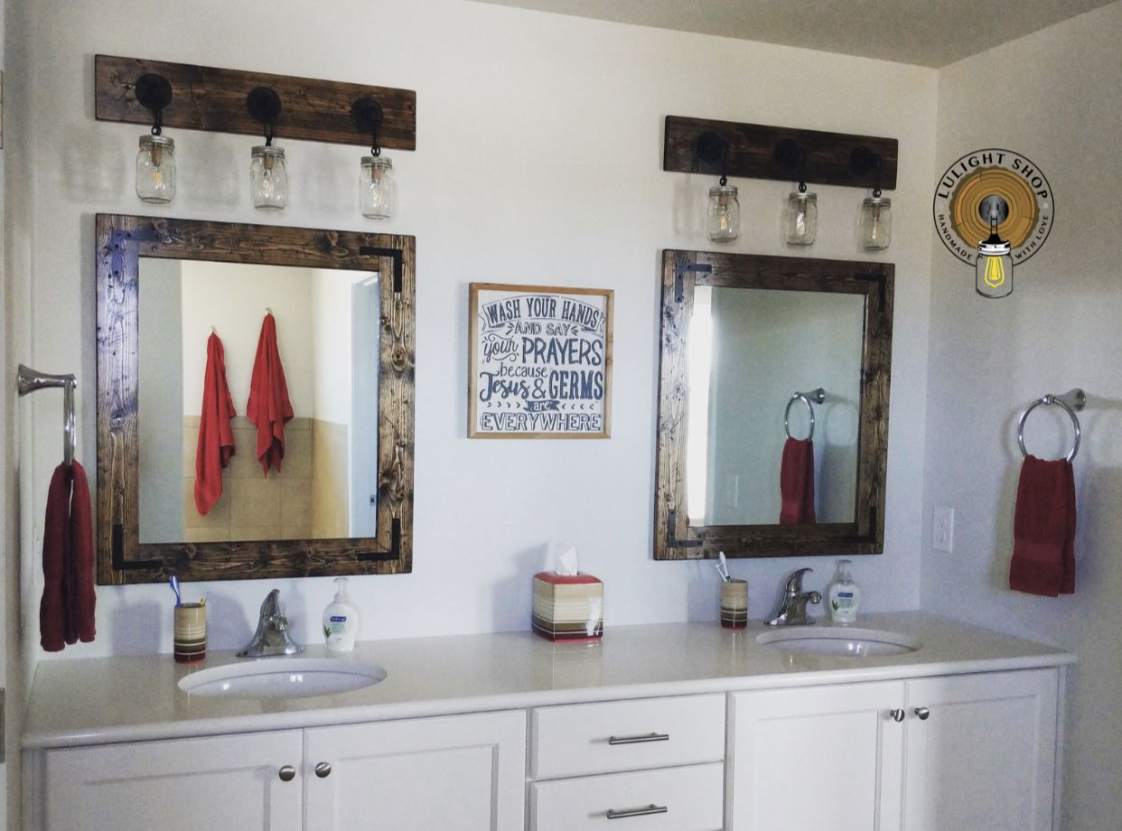 RUSTIC DISTRESSED Handmade Mirror Country Mirror Framed