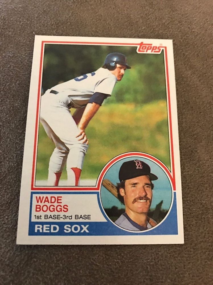 1983 Topps 498 Wade Boggs Rookie Card Pristine Condition