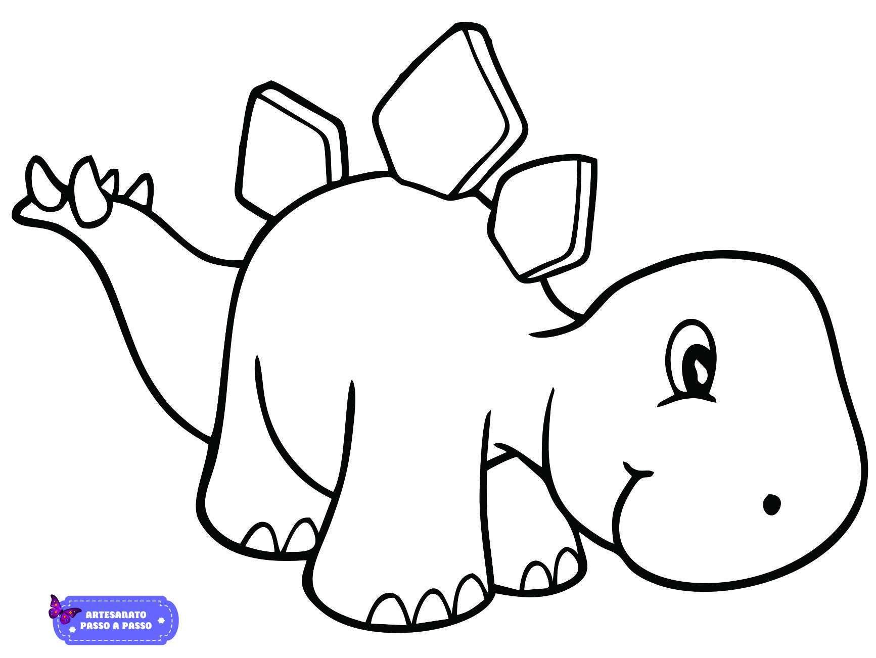 Desenho De Dinossauro Para Colorir Fotos De Dinossauros Modelo